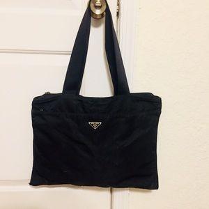 Prada Vela Tessuto Shoulder Bag Rare Authentic